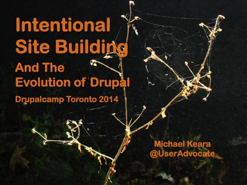Title slide from the 2014 Drupalcamp presention